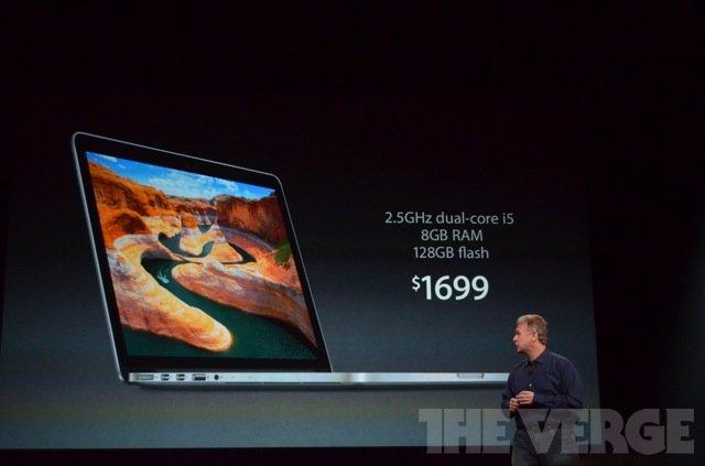 13英寸苹果MacBook Pro Retina售价1699美元