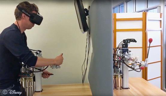 迪士尼开发远程控制机器人 用来还原卡通角色