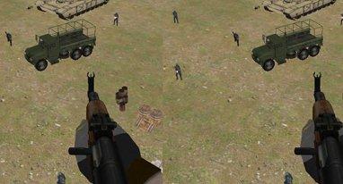 手游版《使命召唤》?戴VR头显在直升机上打枪