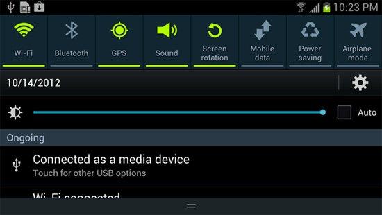 Android 4.2版系统全面解析:通知栏可下拉两次