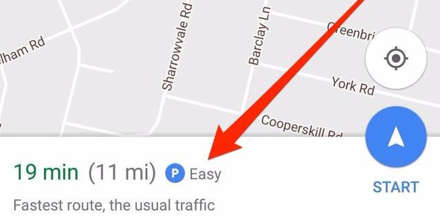 谷歌地图非常6!竟能帮你预测周围好不好停车