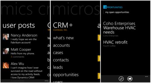 Microsoft Dynamics CRM移动版将登陆WP