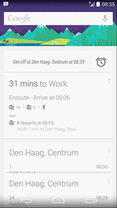Google Now现在可以提醒你不会坐过站