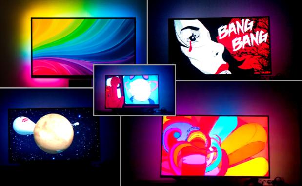 你的电视墙真的可以随着电视内容改变颜色