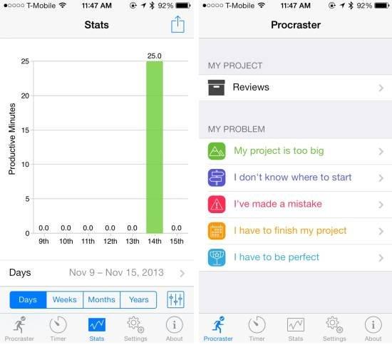 """iPhone应用Procraster 号称拖延症""""终结者"""""""