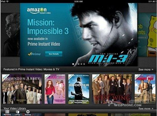 亚马逊即时视频Instant Video登陆iPad