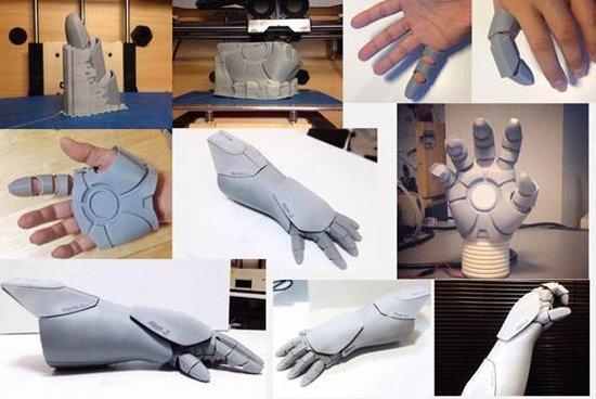 3D打印钢铁侠全套装备:1米68到1米85都能穿