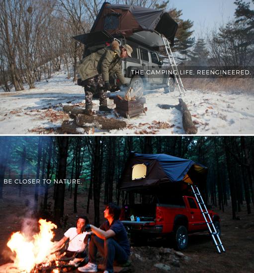 露营新姿势Get!在车顶上支帐篷数星星吧