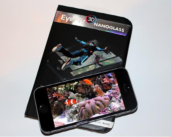 EyeFly3D Nanoglass 让iPhone具备裸眼3D效果