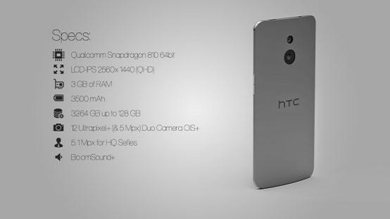 HTC One (M9)概念机曝光 蓝宝石屏幕+双镜头