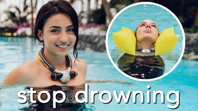 """带气囊的智能项圈 不会游泳也敢下水""""浪"""""""