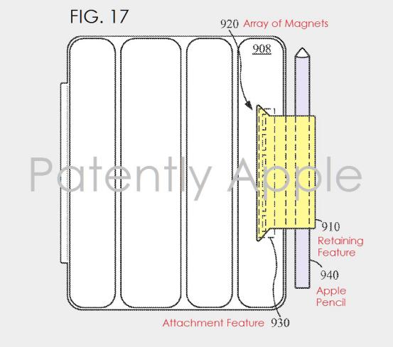 苹果新专利 在保护壳上固定Apple Pencil不怕丢