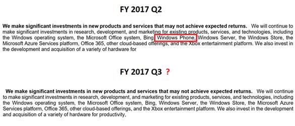 微软最新财务季报透露一件大事 WP确认已死