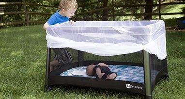 喜欢带宝宝出门看世界的宝妈们 这个婴儿床值得剁手