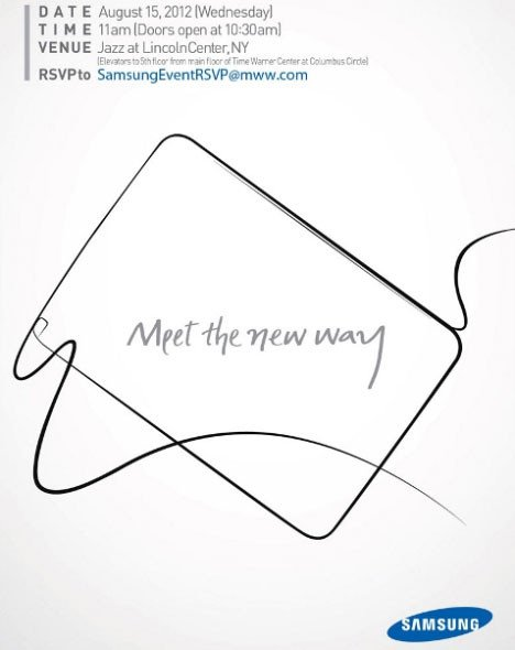 三星15日纽约发Galaxy Note 10.1平板
