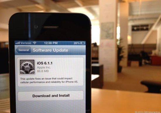 苹果面向iPhone 4S发布iOS 6.1.1系统更新