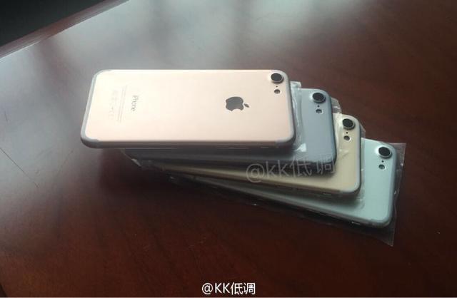 苹果要急哭了 iPhone 7四色真机谍照首次曝光