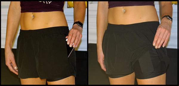 穿上这条运动短裤做倒立手机都不会掉出来