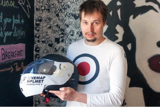 又一款高科技摩托车头盔亮相 预计卖9985元
