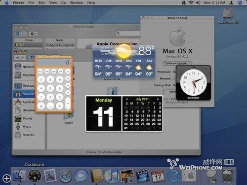"""苹果""""大猫"""":OS X系统界面进化图赏"""