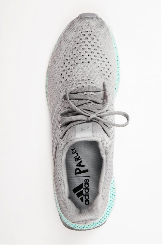 来看阿迪达斯用废弃材料3D打印的概念跑鞋