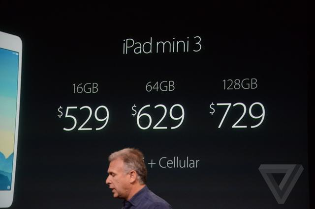 iPad mini 3发布 带指纹识别399美元起