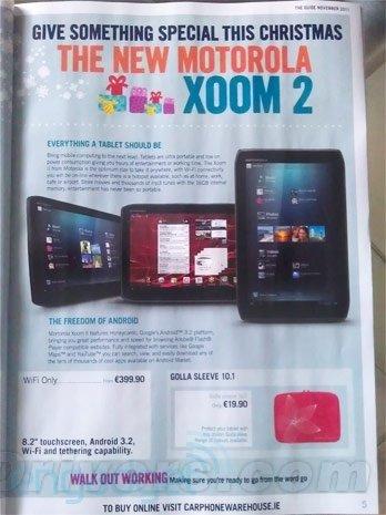 摩托罗拉XOOM 2海报曝光 售399.9欧元