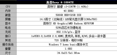 惠普Envy 4超极本评测 音效续航最突出