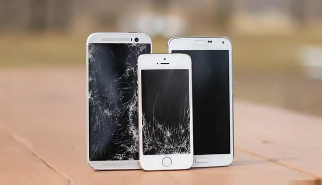 Galaxy S5/新HTC One/iPhone 5s跌落測試