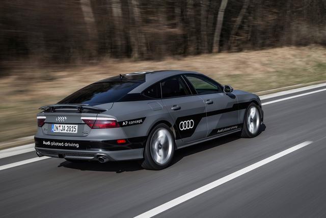 奥迪A7无人驾驶汽车高清图片