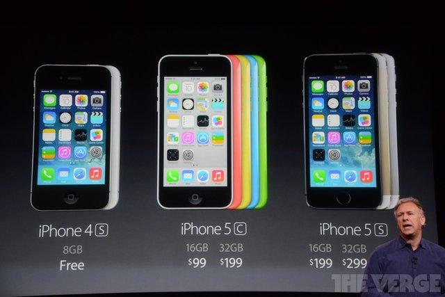 苹果发布iPhone 5c和5s 中国首次首批发售