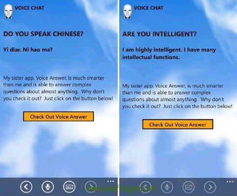 VOICE CHAT:WP语音聊天机器人夏娃