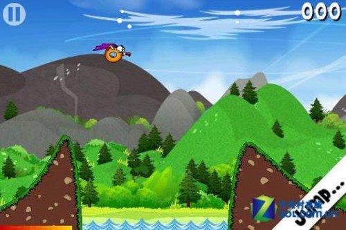 支持一键操作 安卓滑行跳跃游戏热甜甜圈
