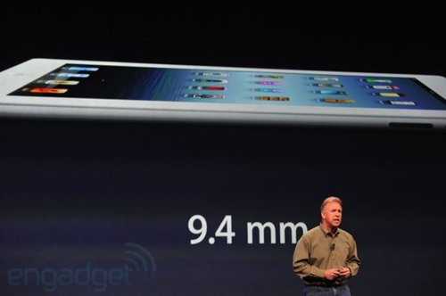 新iPad厚度增至9.4mm 重量增加至635g