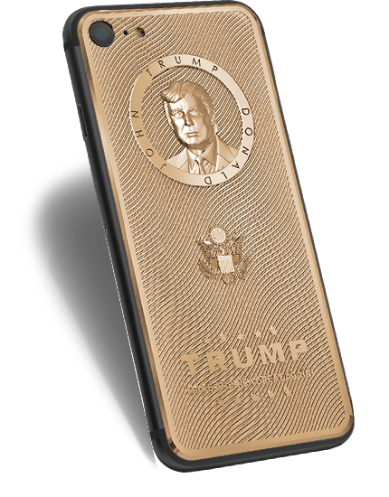24K gold-plated Trump case