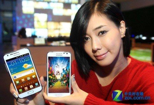 白色三星GALAXY SII LTE HD韩国发布