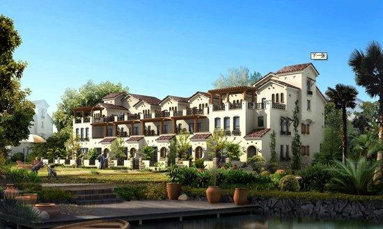 阳光地中海项目的联排别墅全部临湖而建,面积从211平到288平,电梯洋房图片