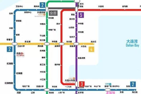 地铁2号线:大连北站-海之韵-五年后的大连地铁线路图 地铁房布局必备图片