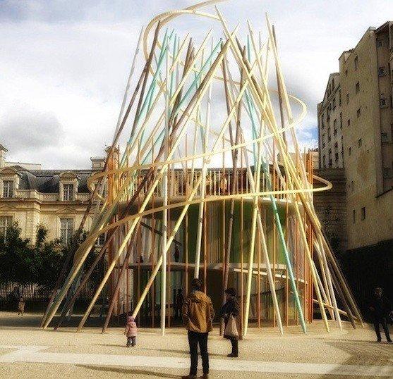 巴黎城市公园中的幼儿园