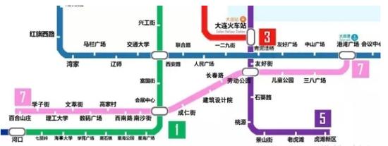 年后的大连地铁线路图 地铁房布局必备图片