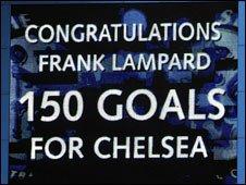 The scoreboard at Chelsea