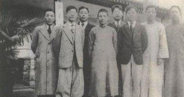 1934年,梁方仲(左二)在北京成立史学研究会