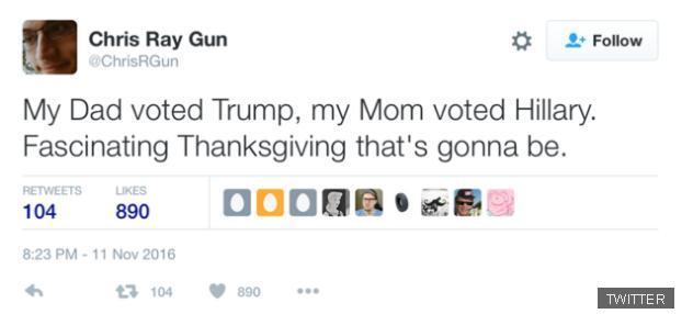 川普vs希姨 史上最尴尬感恩节