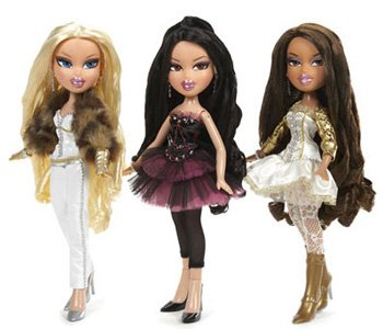 Bratz doll is a line of sultry-eyed, mini-skirted fashion dolls