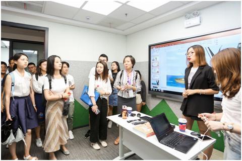 IMUSE国际大学生参观巨人网校,体验在线教育的实际应用