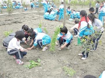 """学校开辟4亩""""开心农场"""" 700学生上课学种地"""