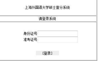 上海外国语大学2013年考研成绩开通查询