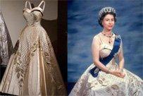 白金汉宫展出女王服装