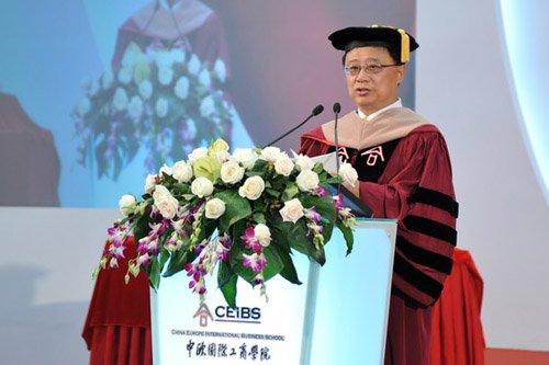 现场直击:中欧国际工商学院朱晓明院长致辞