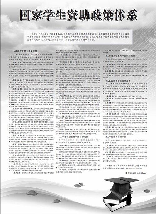 公告 国家学生资助政策体系